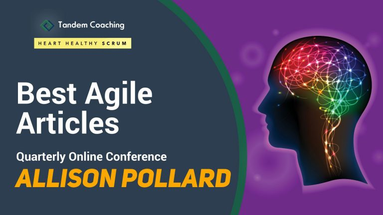 Coaching Winning Agile Teams - Best Agile Articles Online Conference - Allison Pollard